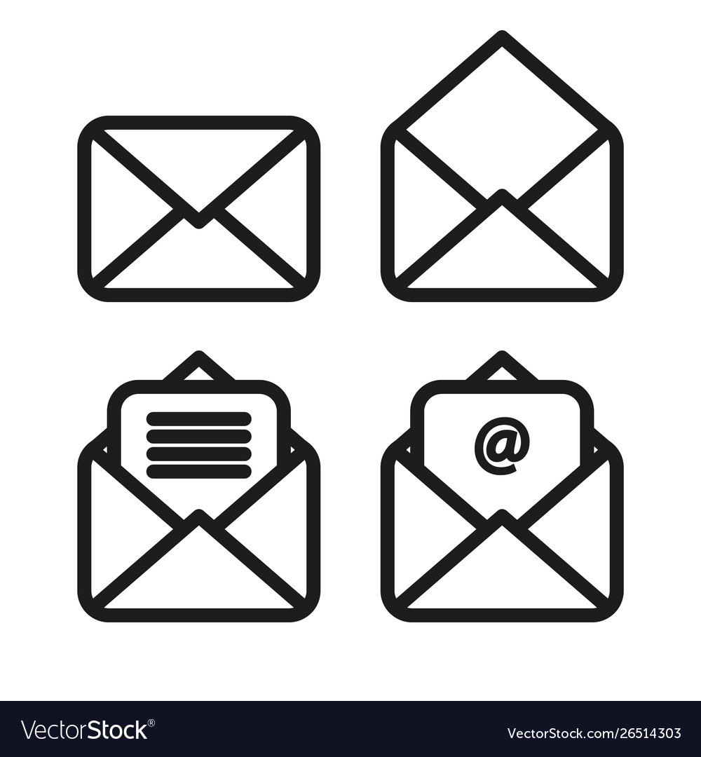 Icon envelope simple linear