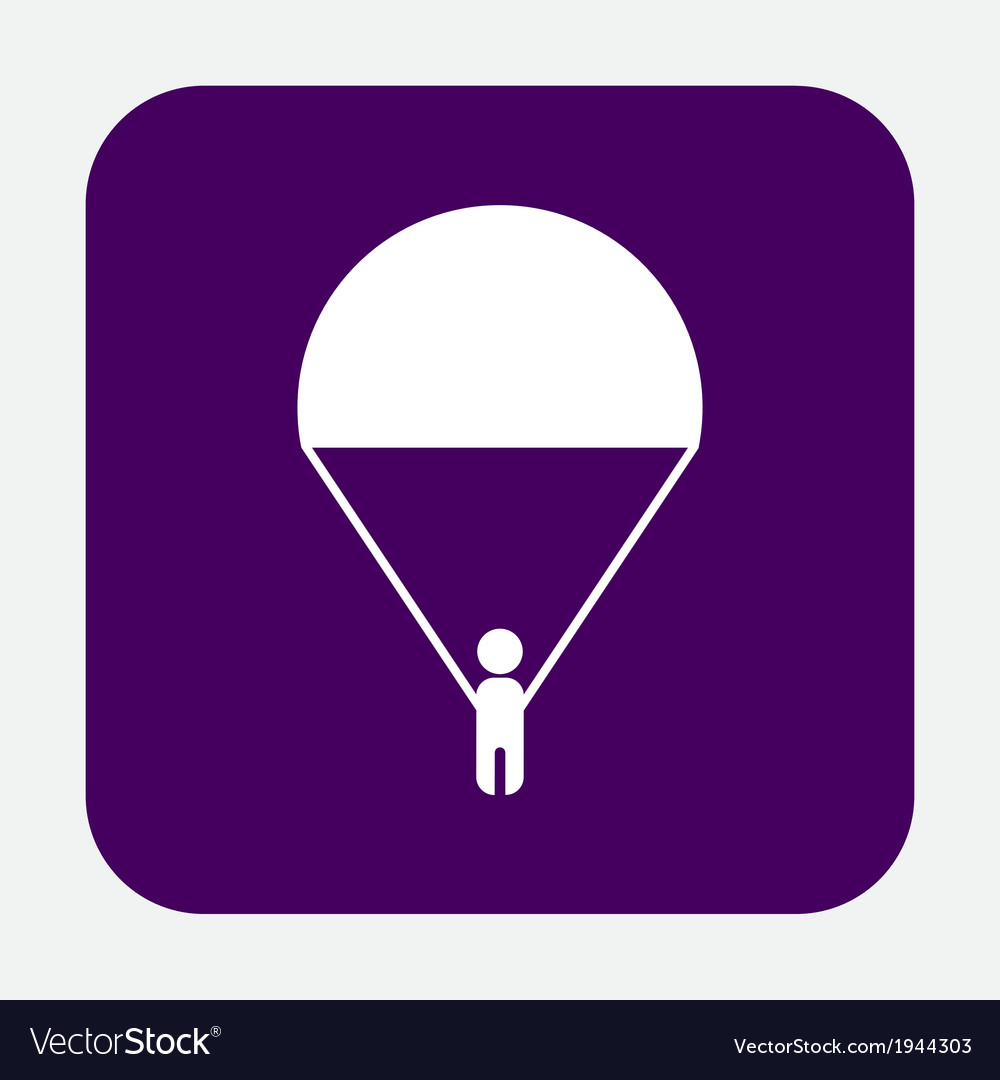 Man on a parachute vector image