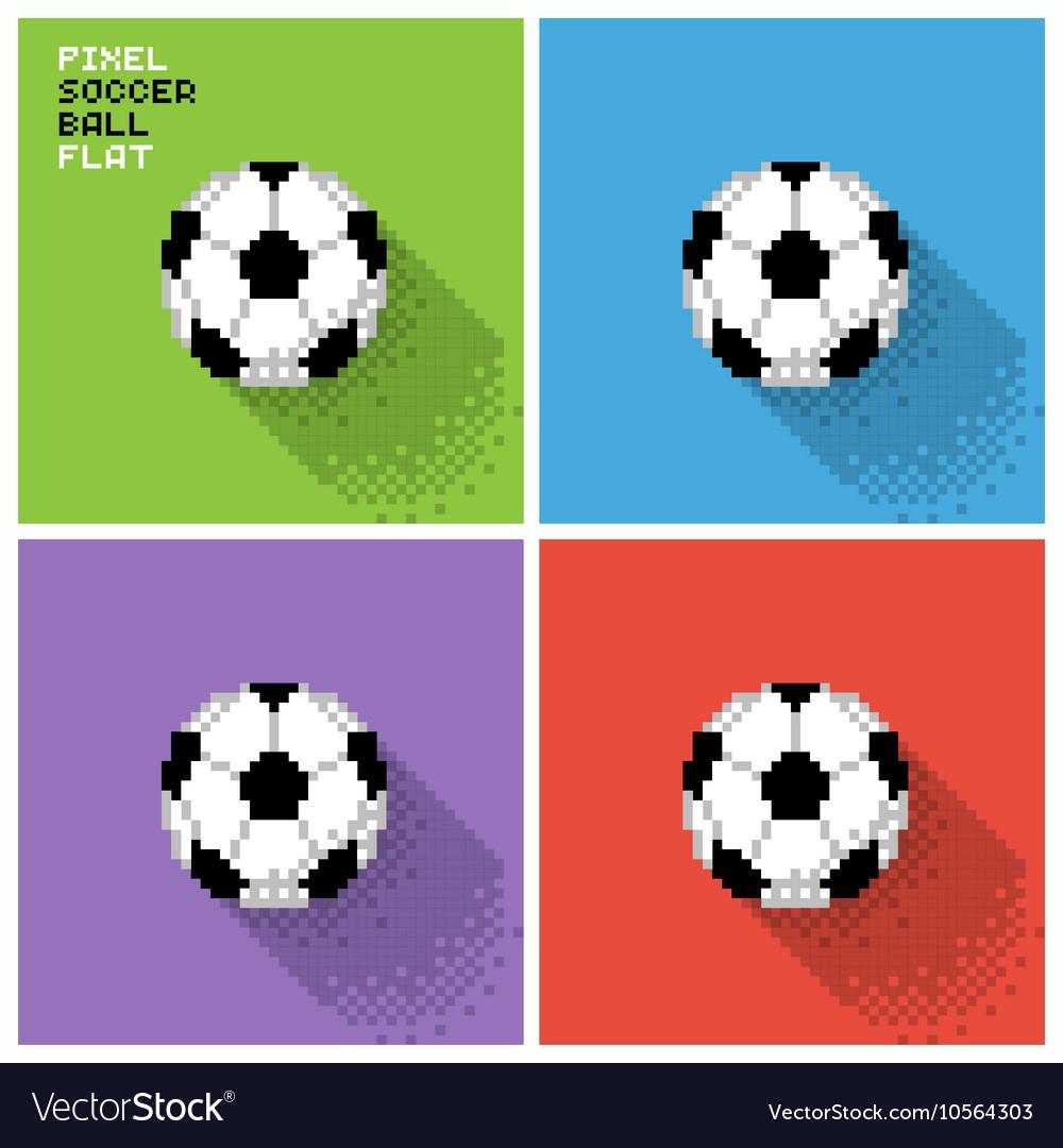 Pixel soccer ball