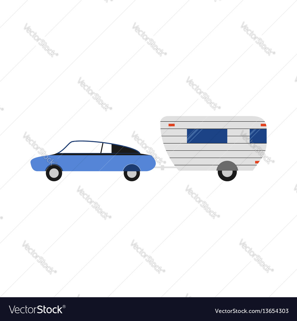 Rv trailer flat camping icon