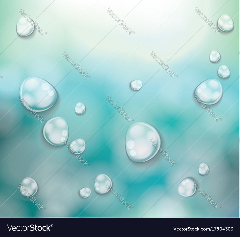 Transparent water drops background