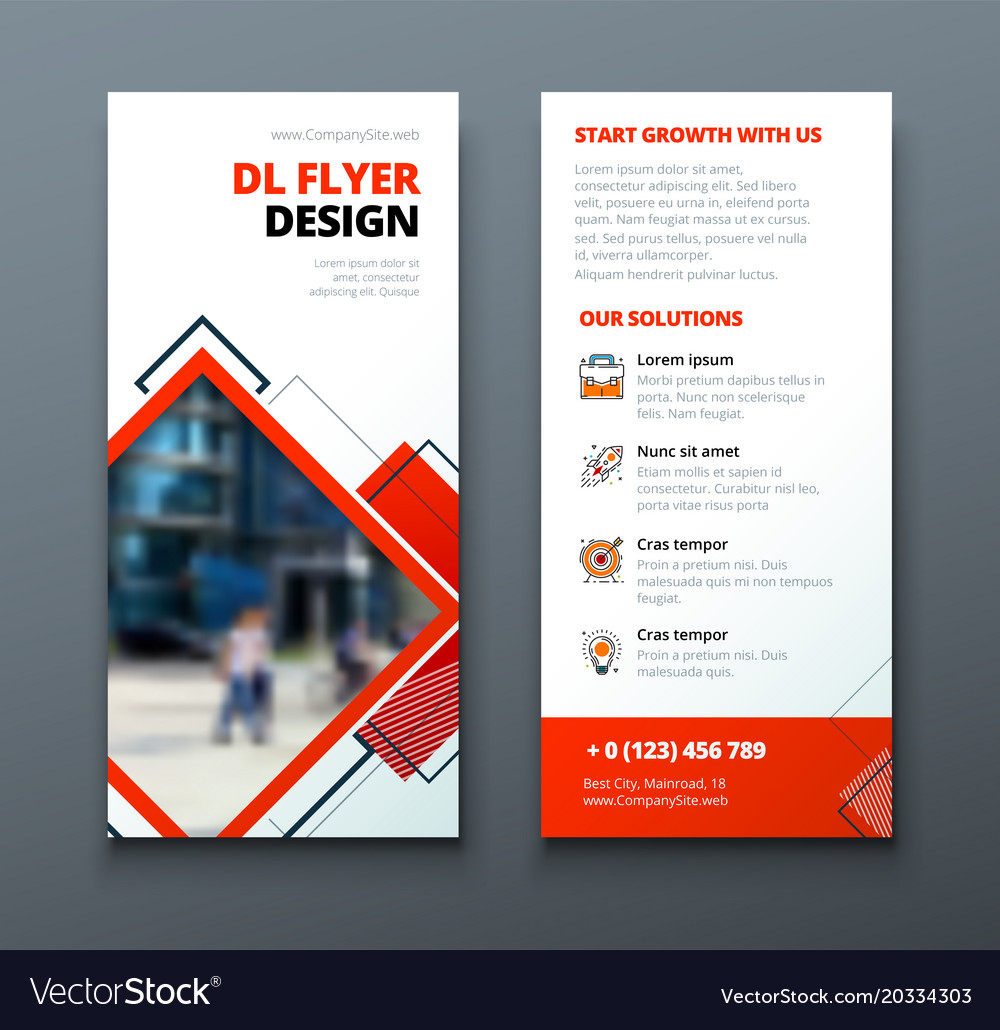 tri fold brochure design corporate business vector image