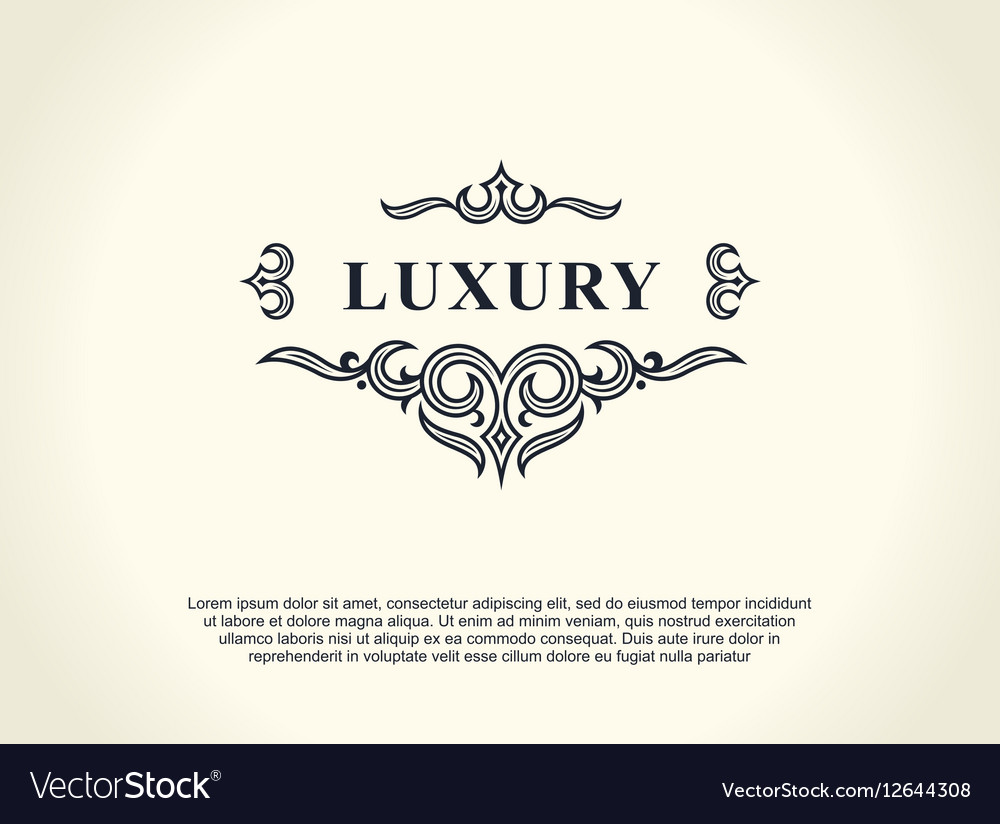 Calligraphic Luxury line logo Flourishes elegant