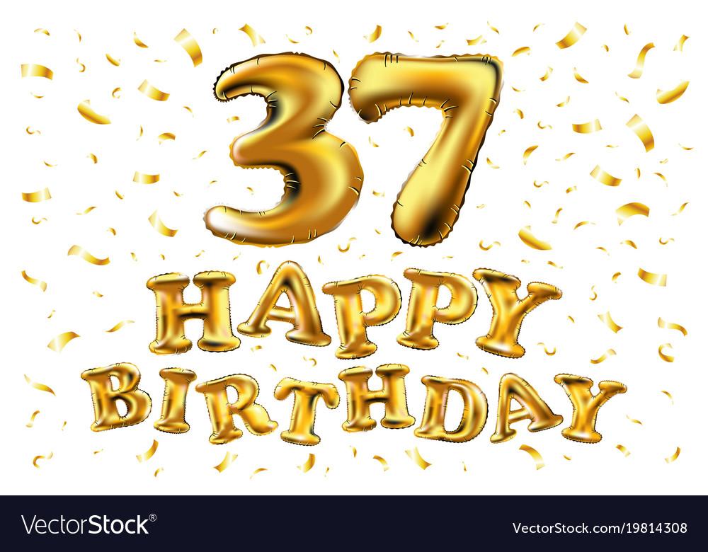 Happy Birthday 37 Years Anniversary Joy Royalty Free Vector