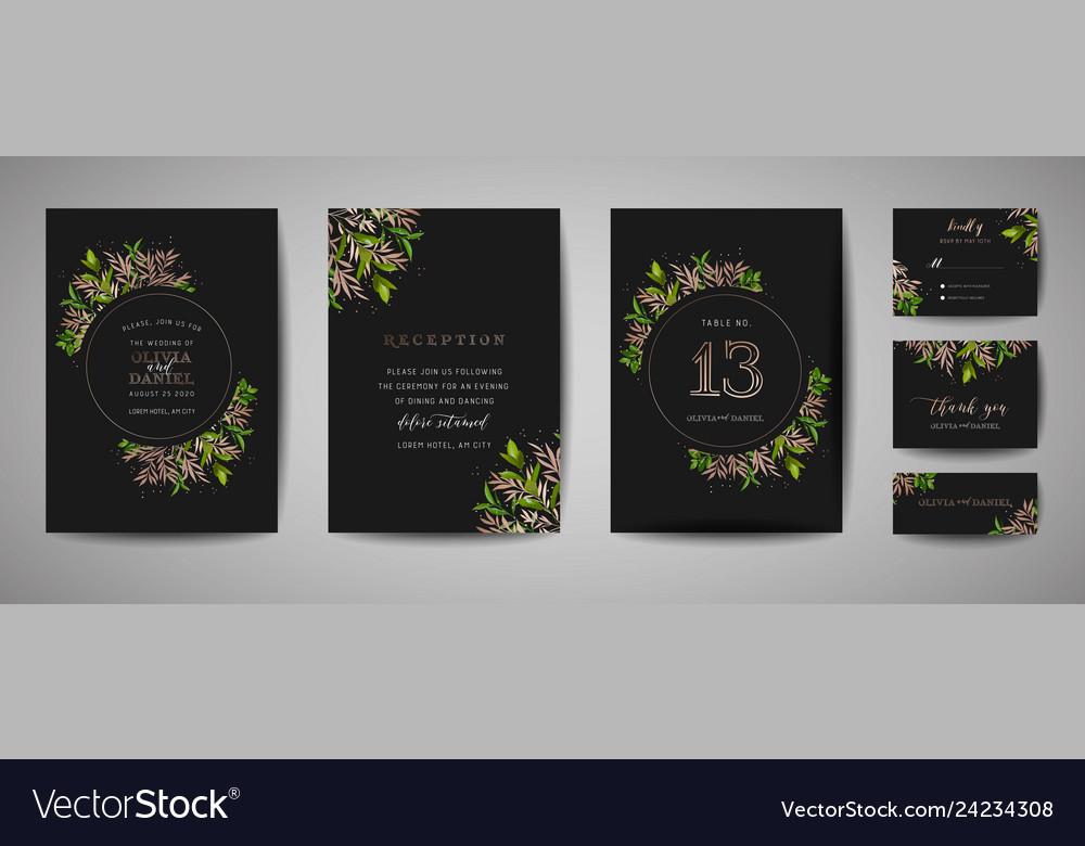 Luxury flower wedding save the date invitation