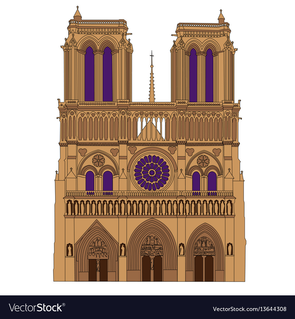 Notre dame de paris cathedral france isolated
