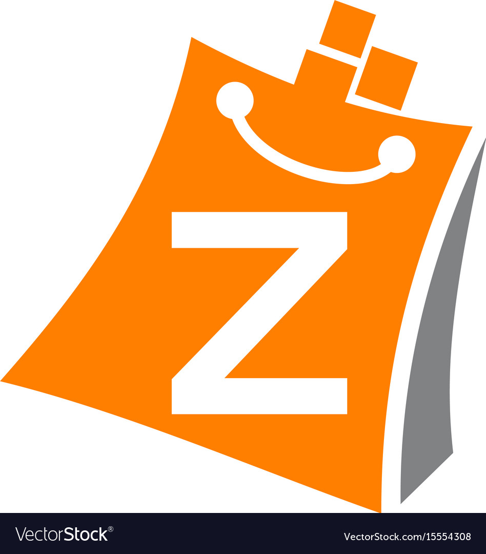 Shopping online initial z vector image