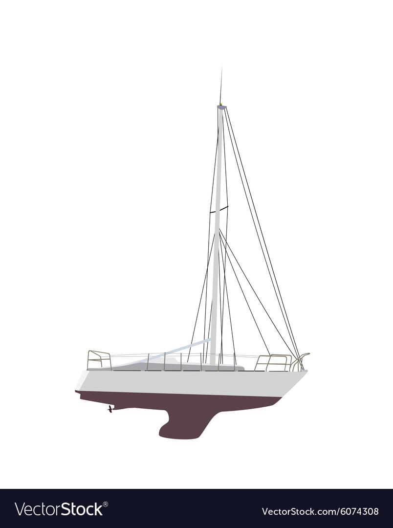 Water Boat Sailboat vector image