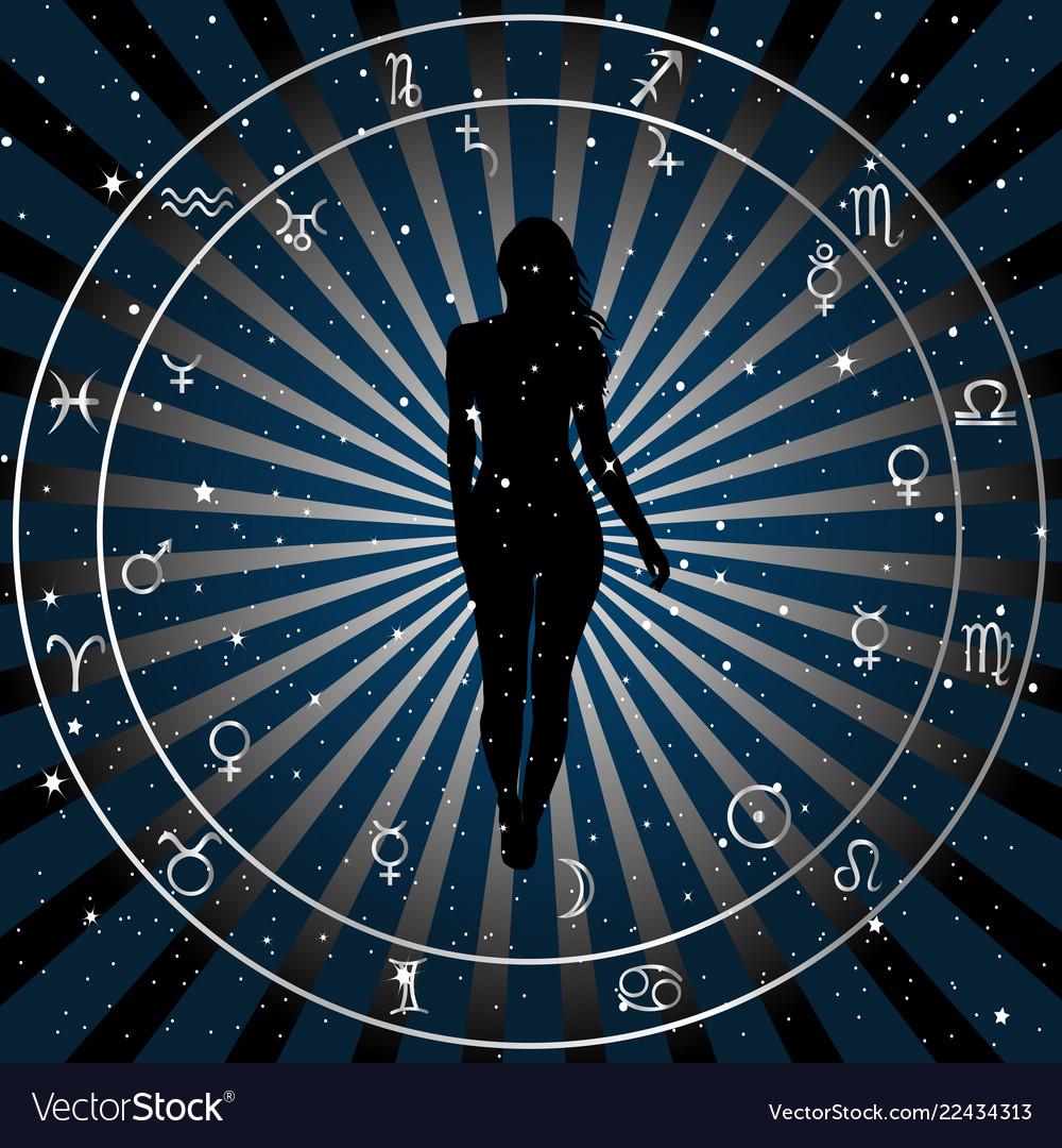 Astrologic zodiac horoscope background with