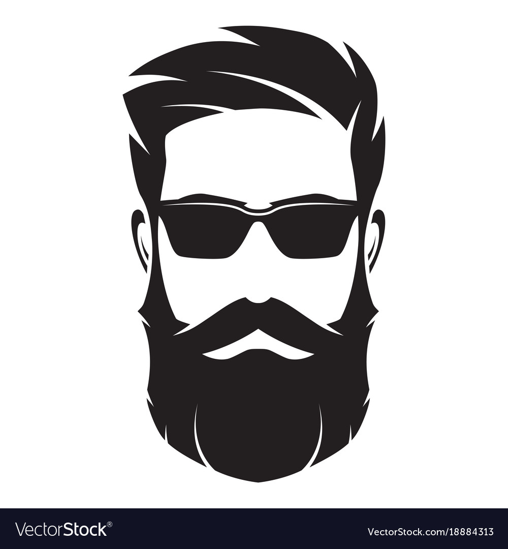 bearded man s face hipster character fashion vector image rh vectorstock com face vector art face vector freepik