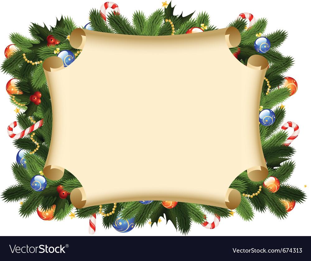 christmas card border vector image