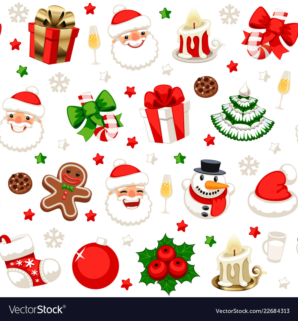 Christmas seamless pattern isolated