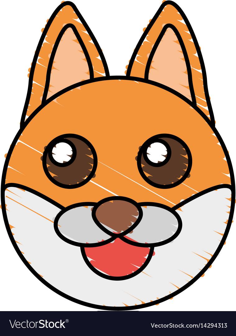 Cute fox drawing animal