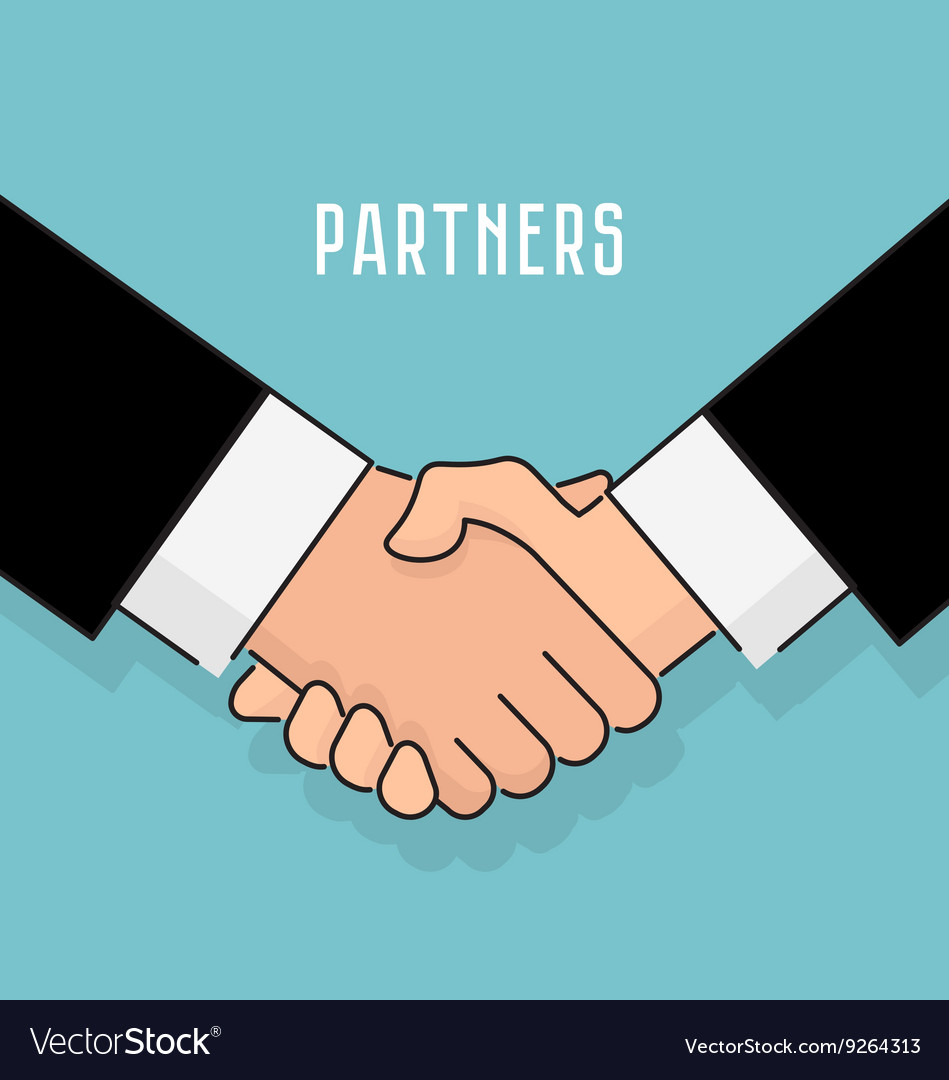 Flat style handshake businessman agreement