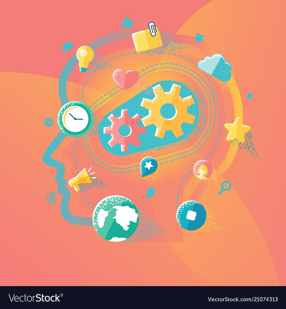 Of idea and startup vector image