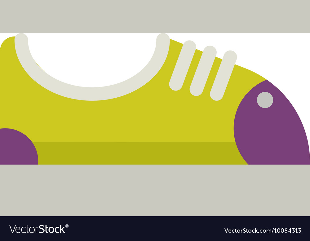 Sneakers fashion sport casual shoes vector image