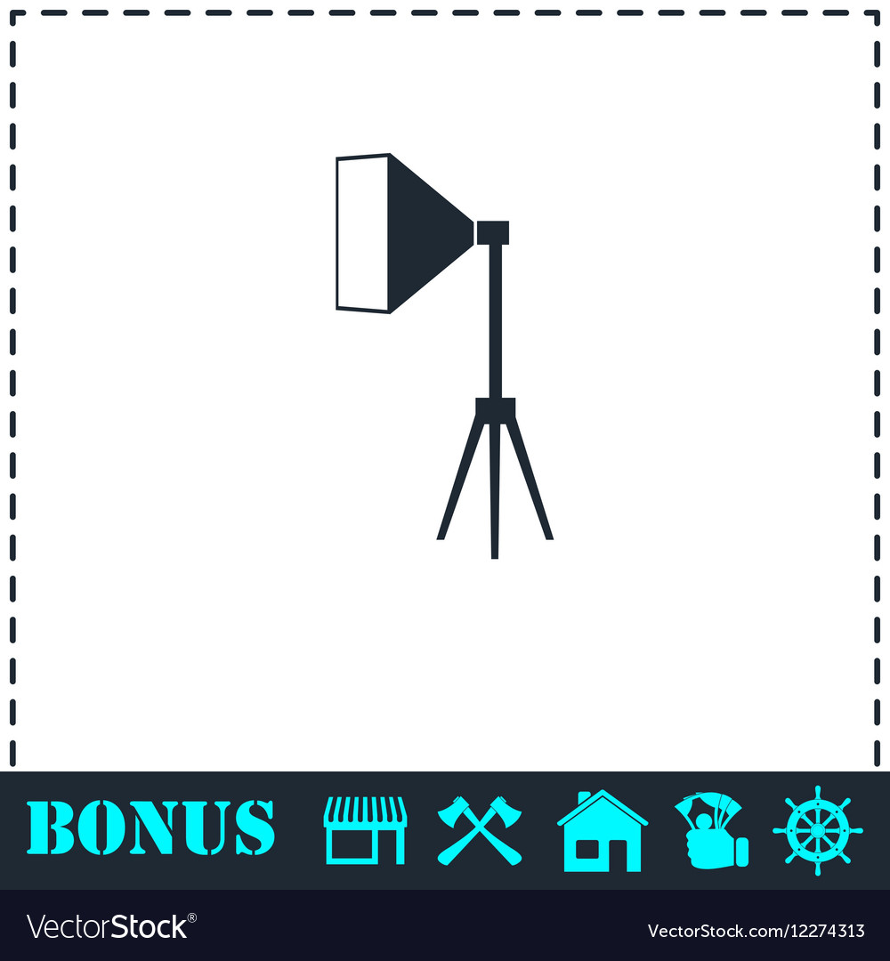 Marvelous Studio Lighting Icon Flat Royalty Free Vector Image Wiring Digital Resources Bioskbiperorg