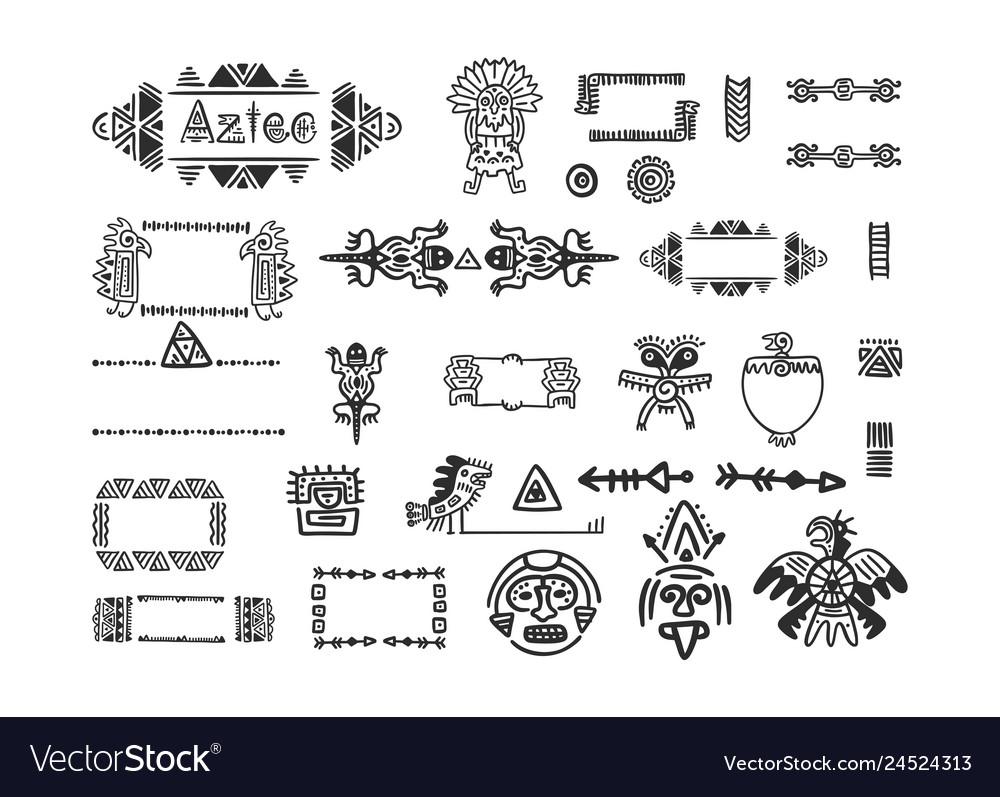 Tribal aztec symbols for logo