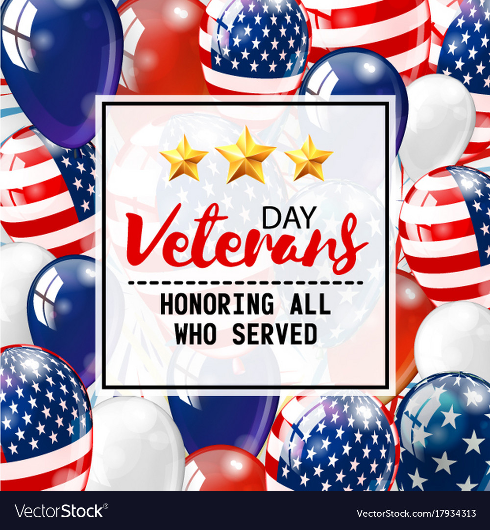 Veterans day honoring all who served usa flag