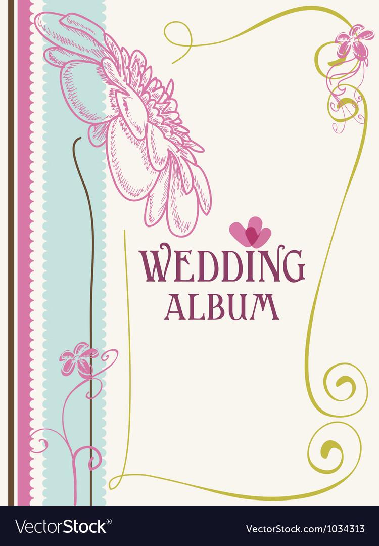 Wedding album cover vector image