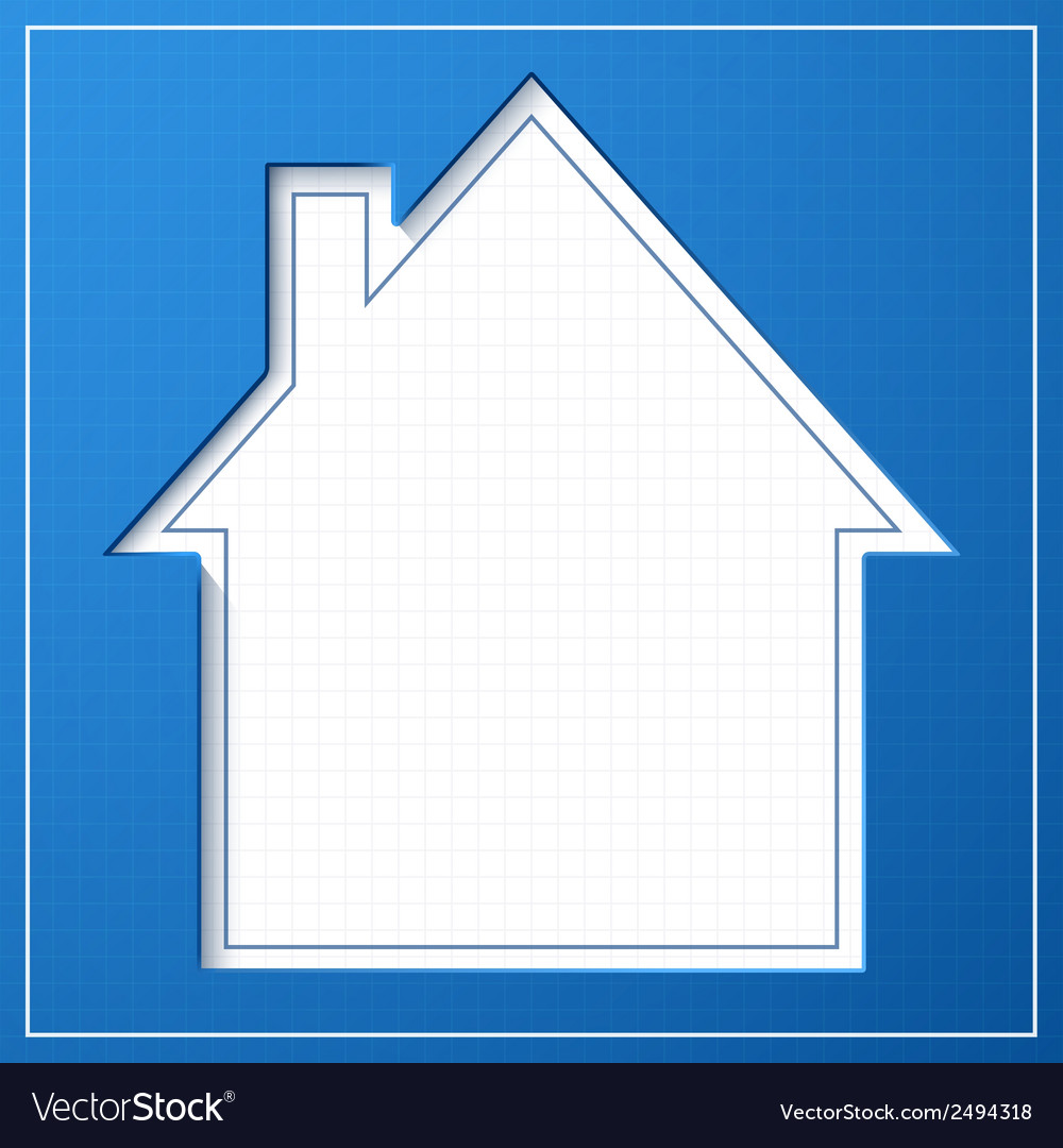 Abstract house background blueprint concept vector image malvernweather Images