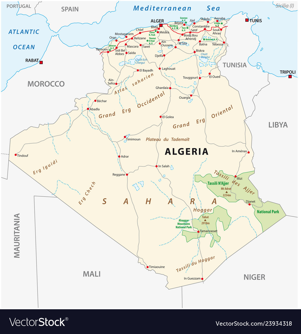 Algeria road and national park map on map of yemen, map of middle east, map of mali, map of syria, map of laos, map of algiers, map lebanon, map of sudan, map of gibraltar, map of bahrain, map of angola, map of iraq, map of europe, map of tunisia, map of switzerland, map of africa, map of central america, map of great britain, map of libya, map of morocco,