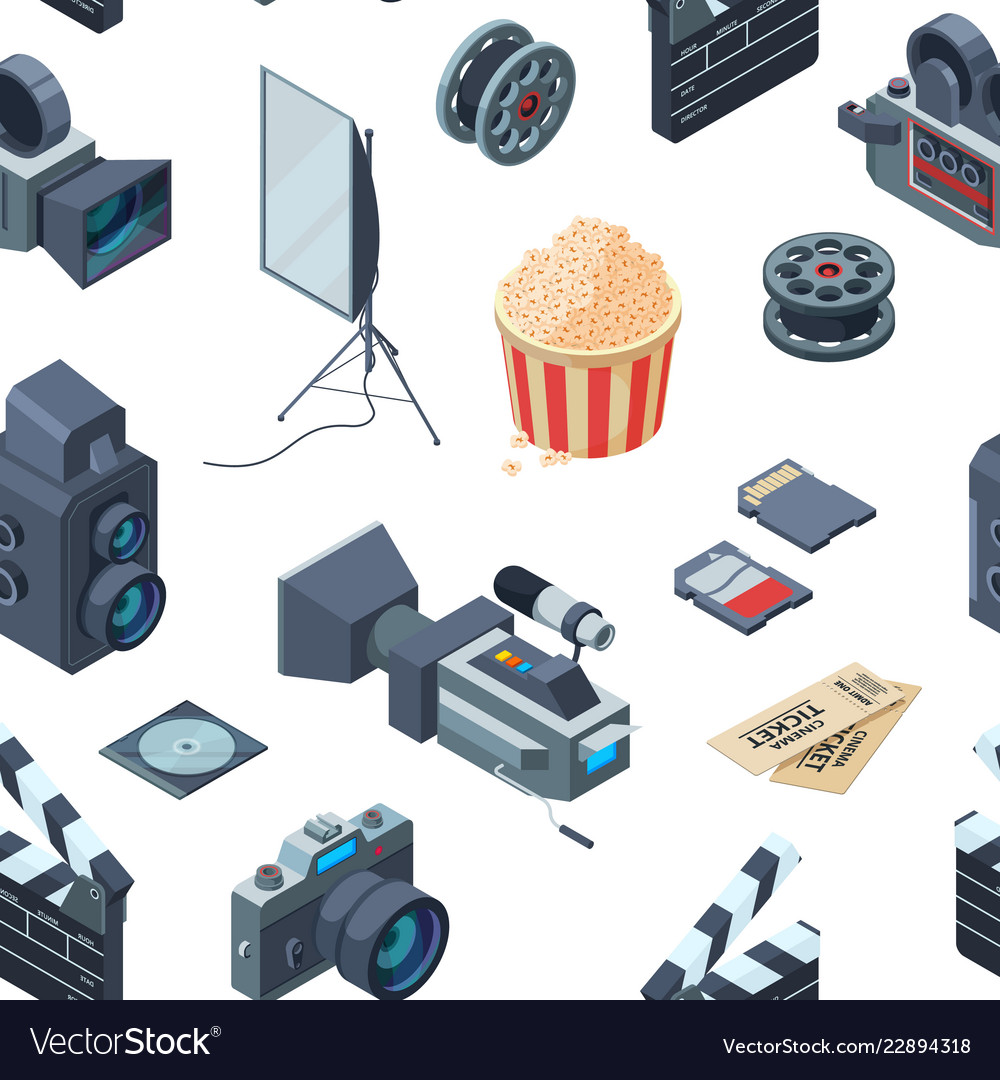 Cinematograph isometric pattern or