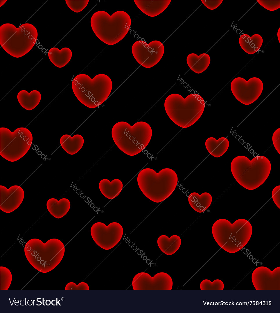 And hearts black background