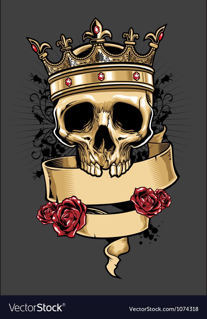 King of Skull vector image