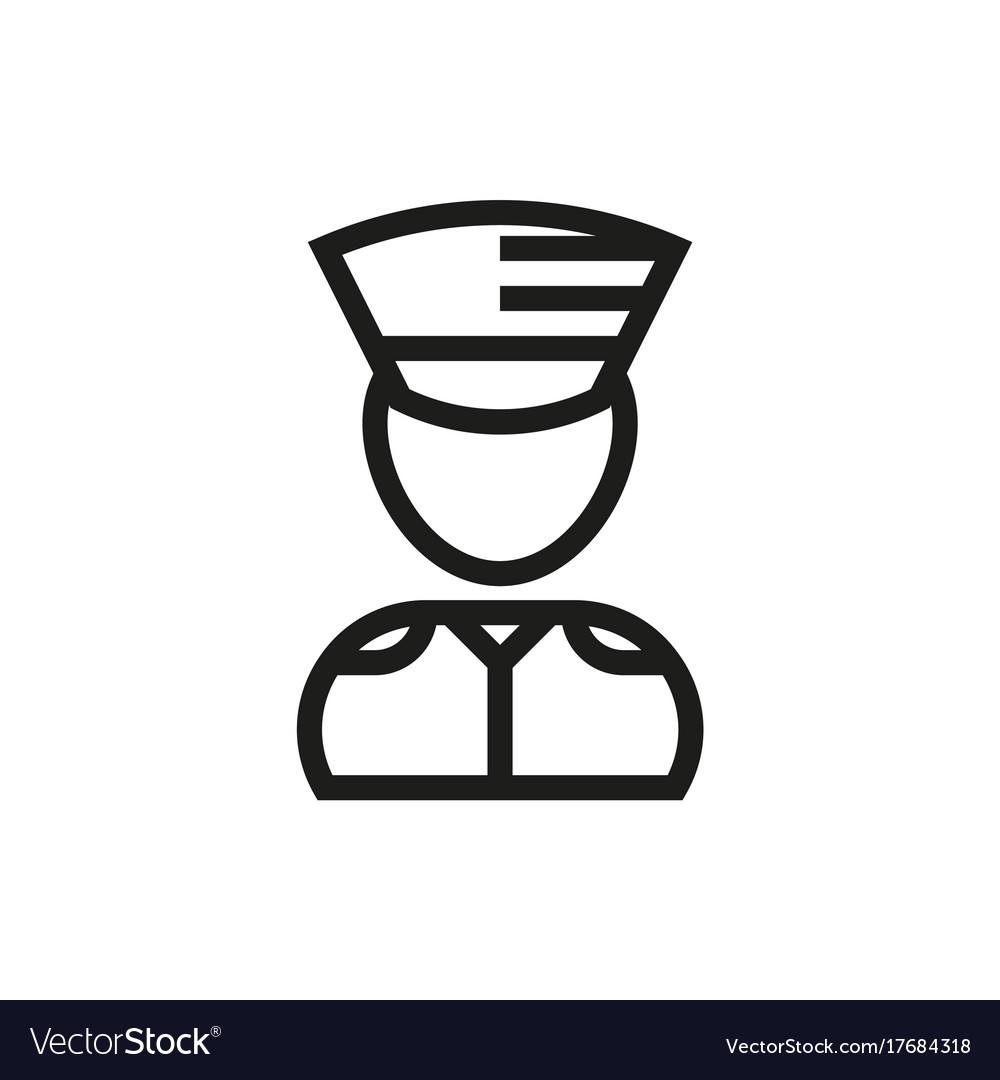 Soldier icon on white background