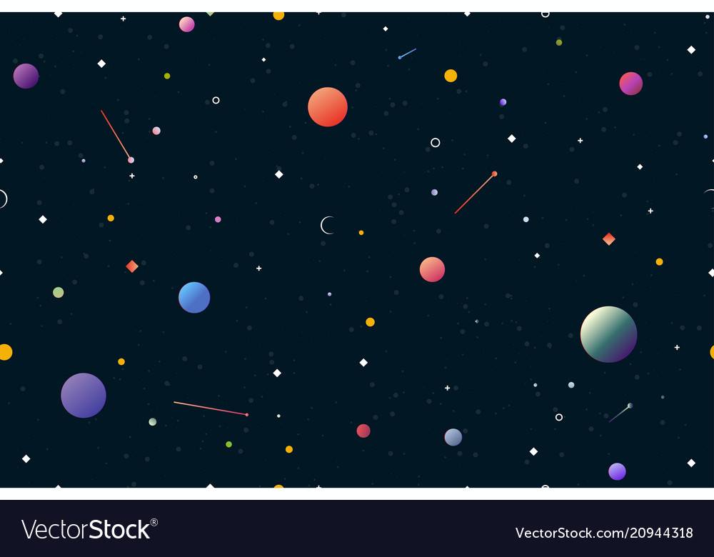 Space seamless gradient background