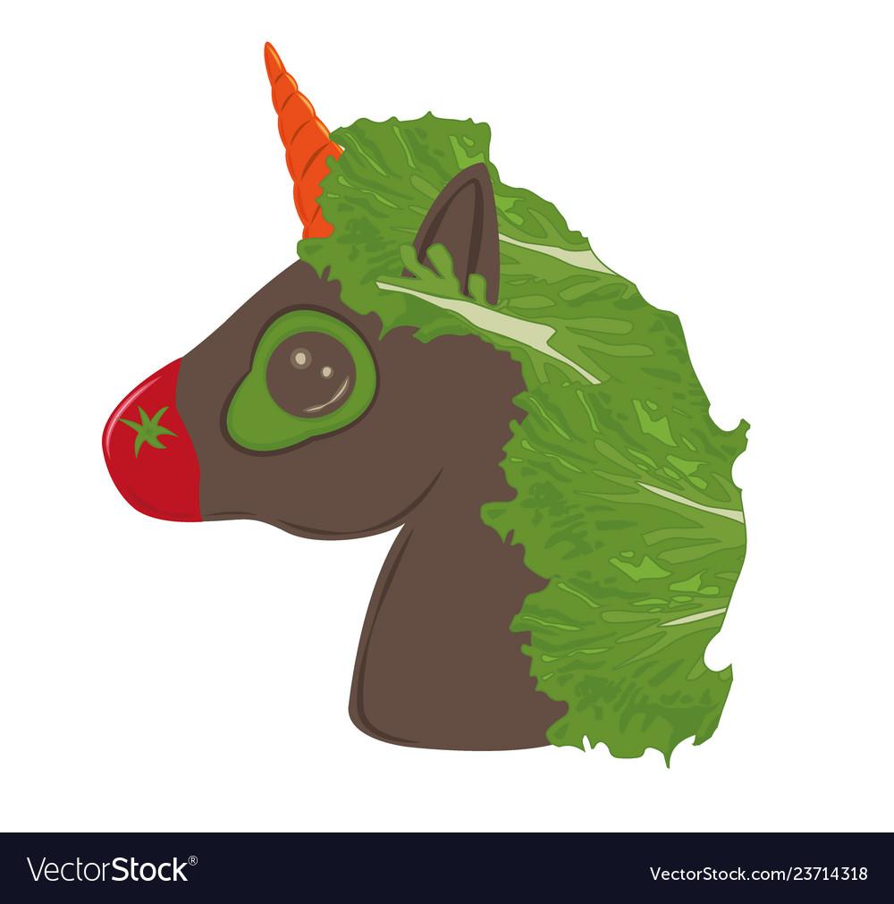 Veggies vegan unicorn vegetables emoji