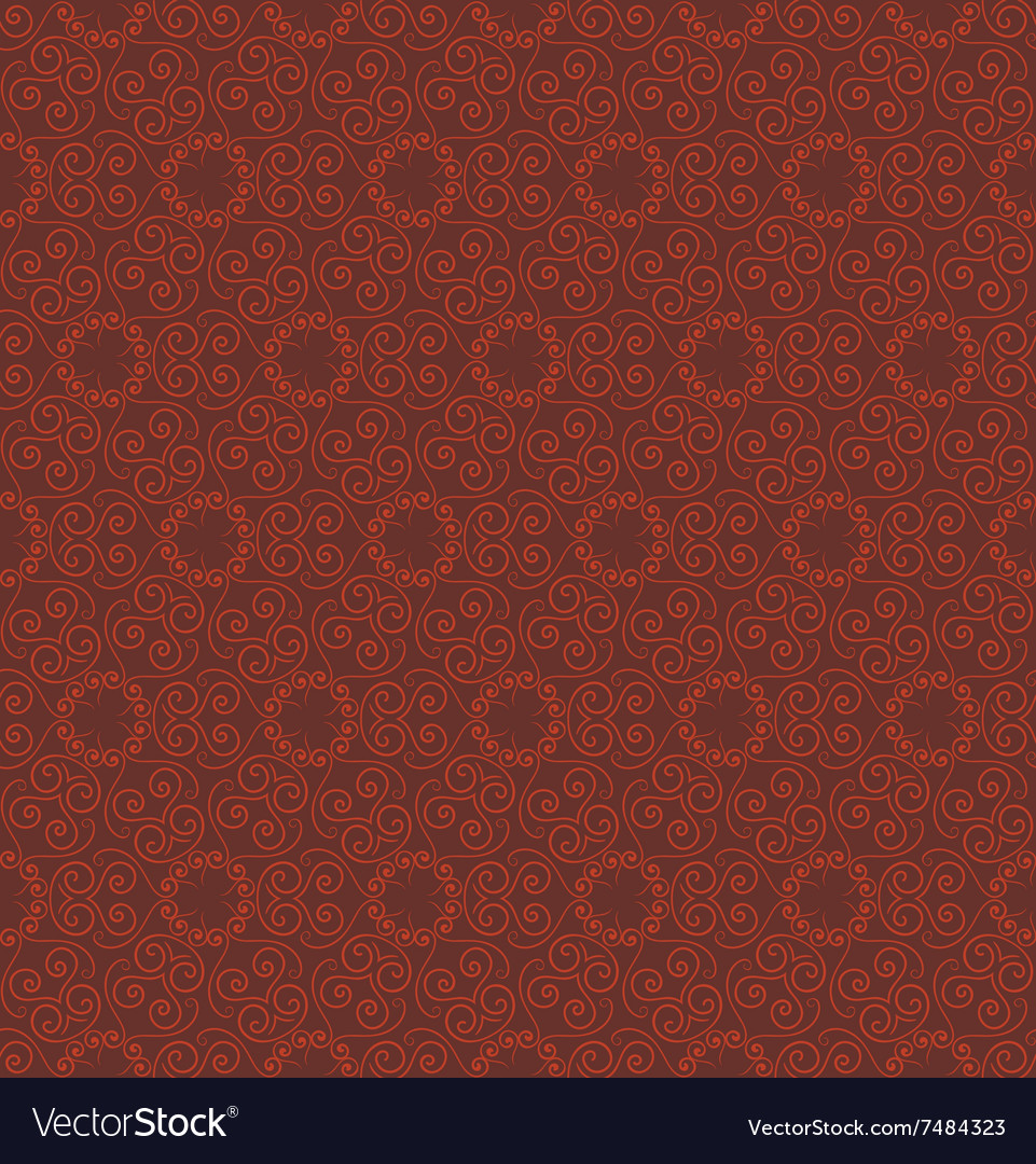 Abstract red seamless hand-drawn pattern