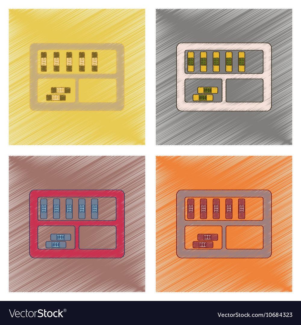Assembly flat shading style icon folder shelf