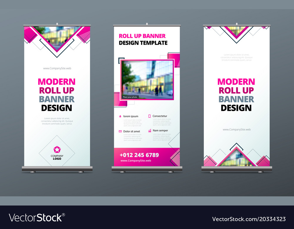 Business roll up banner stand presentation