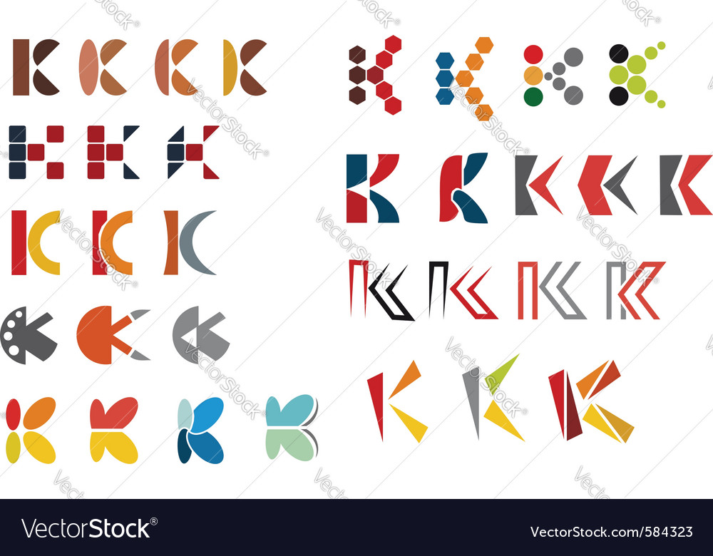 K alphabet symbols