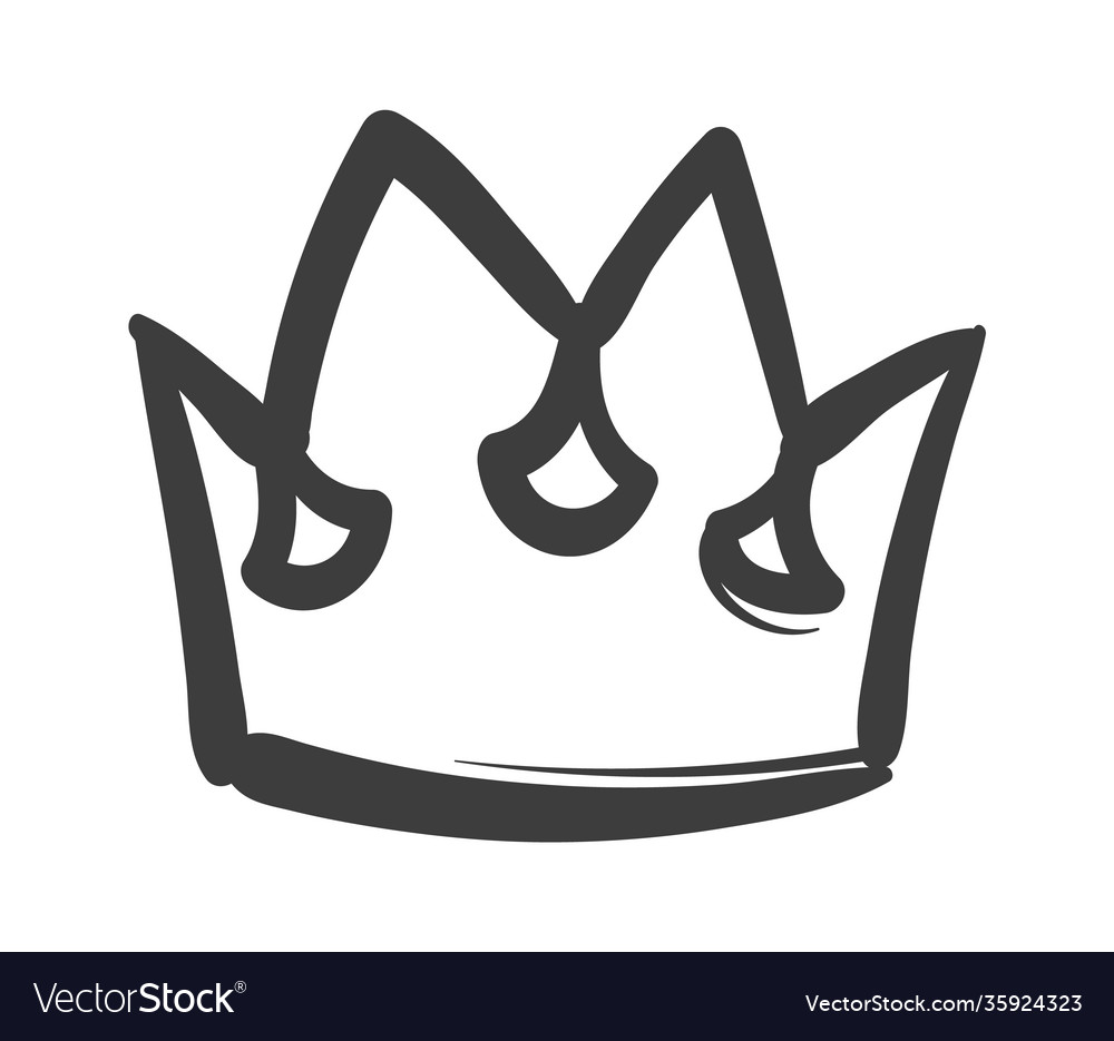 King sketch crown ink drawing royal imperial