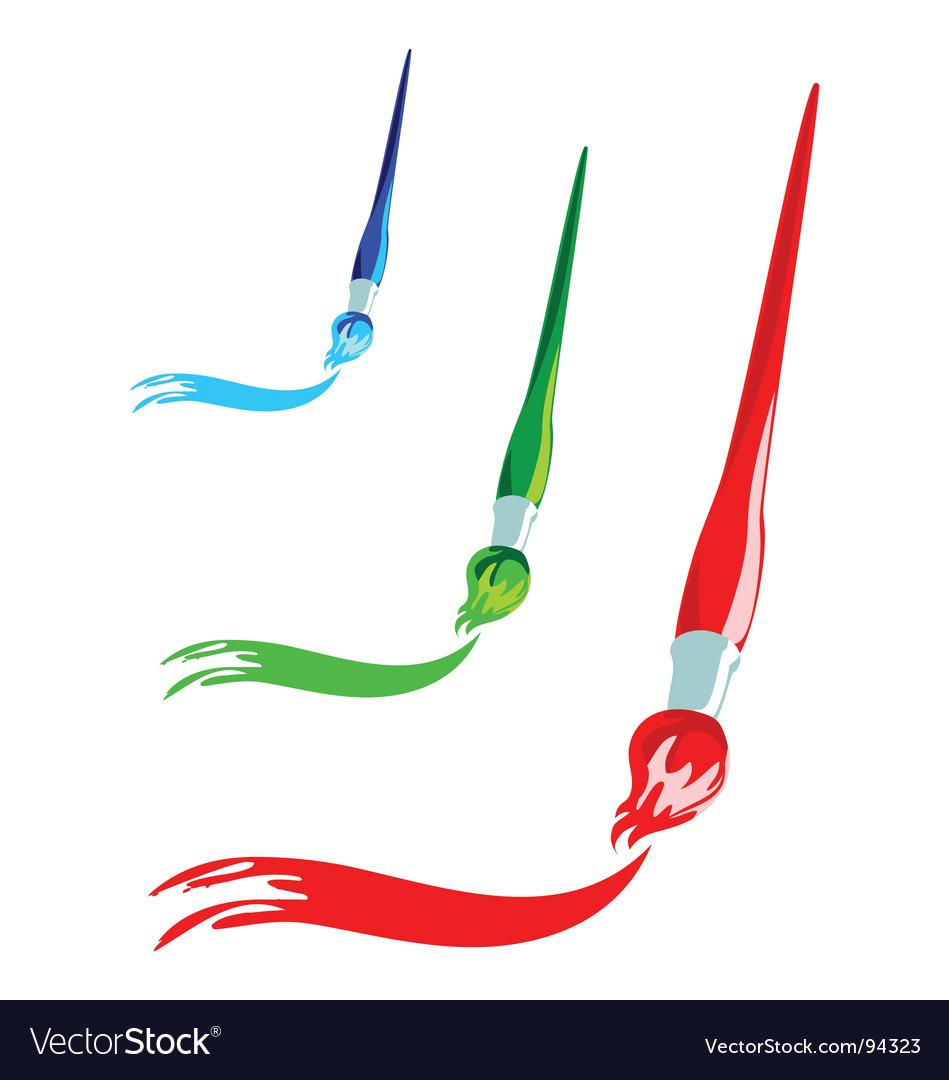 Paintbrush artistic stroke