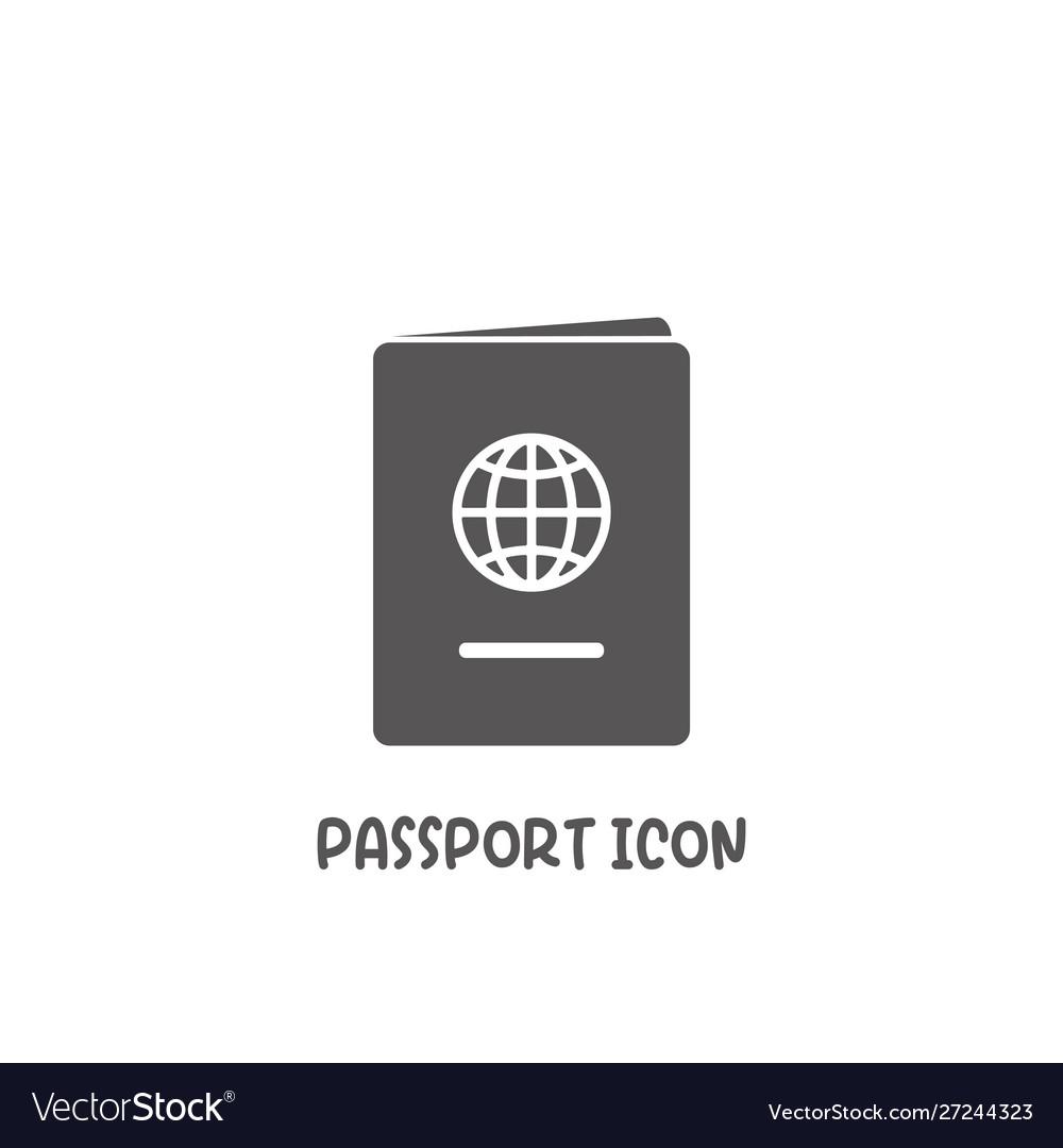 Passport icon simple flat style