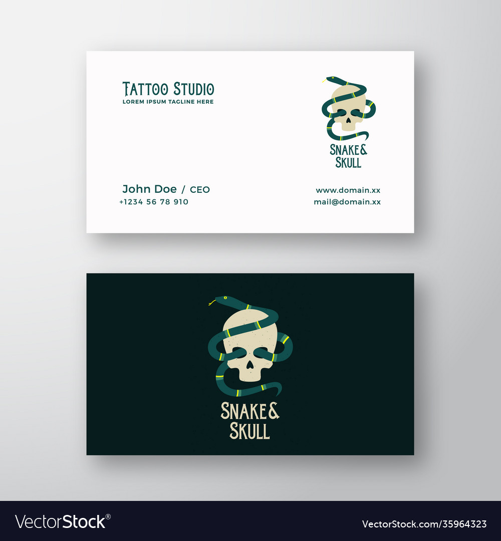 Snake and skull abstract modern logo and
