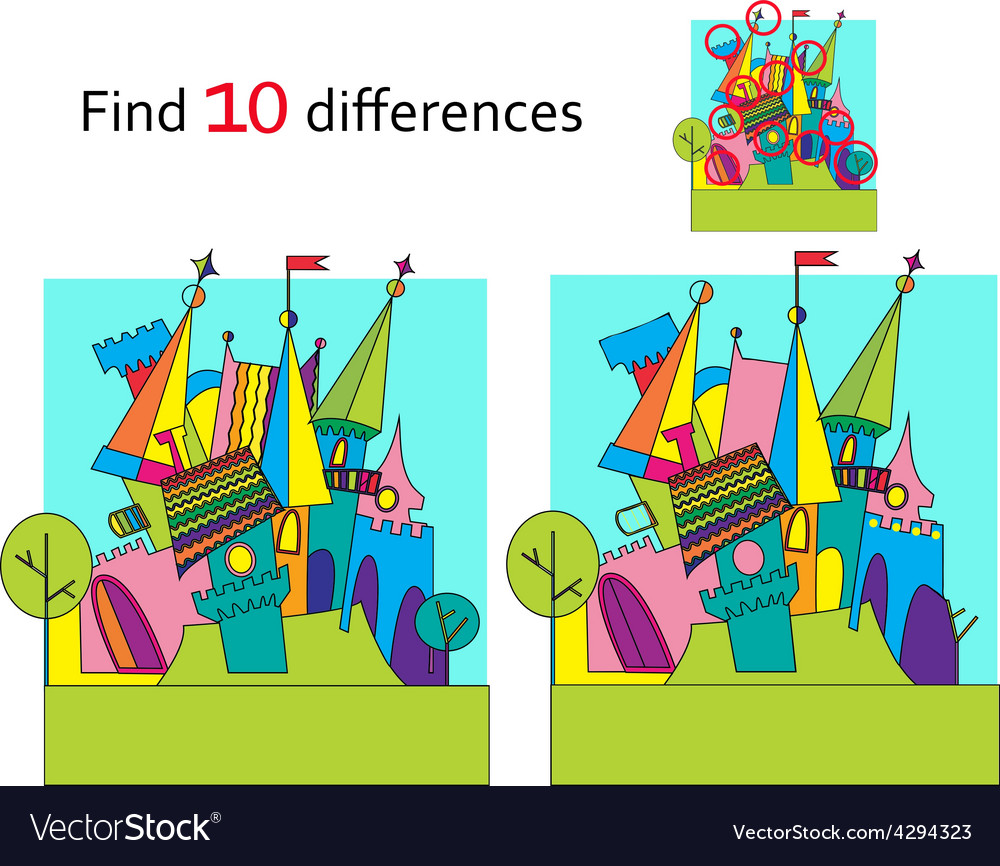 Spot the differences Two images with ten changes