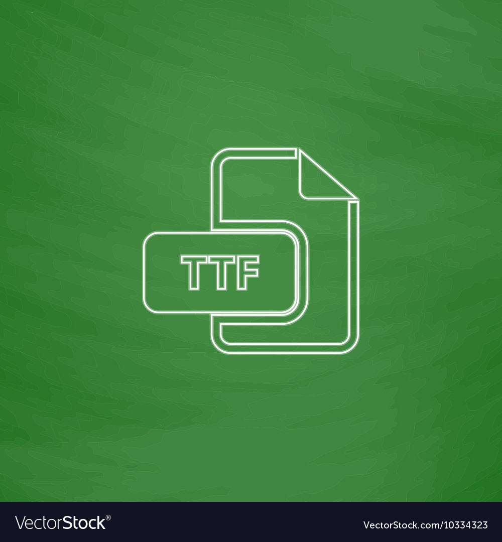 TTF computer symbol vector image on VectorStock