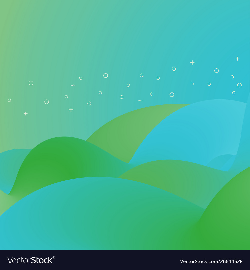 Abstract trendy gradient fluid shapes background