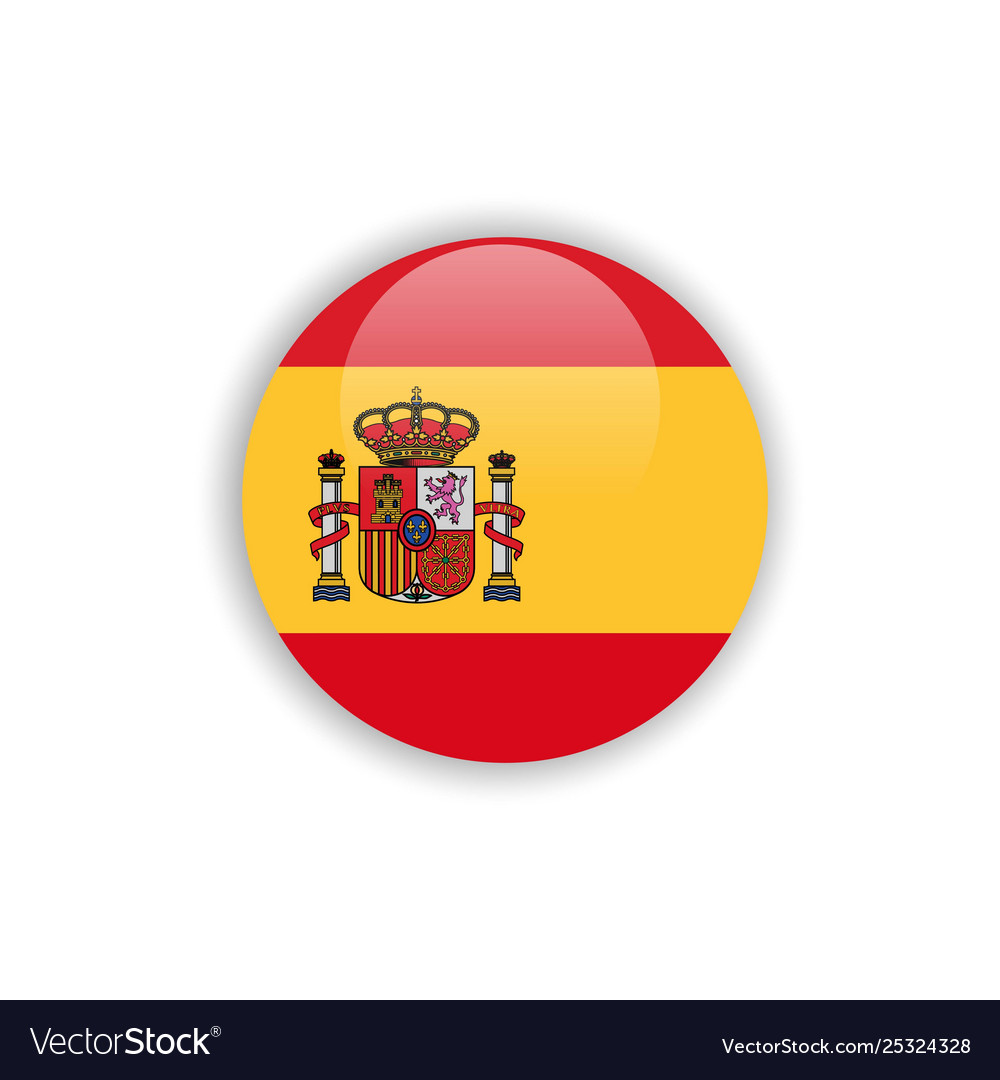 Button spain flag template design