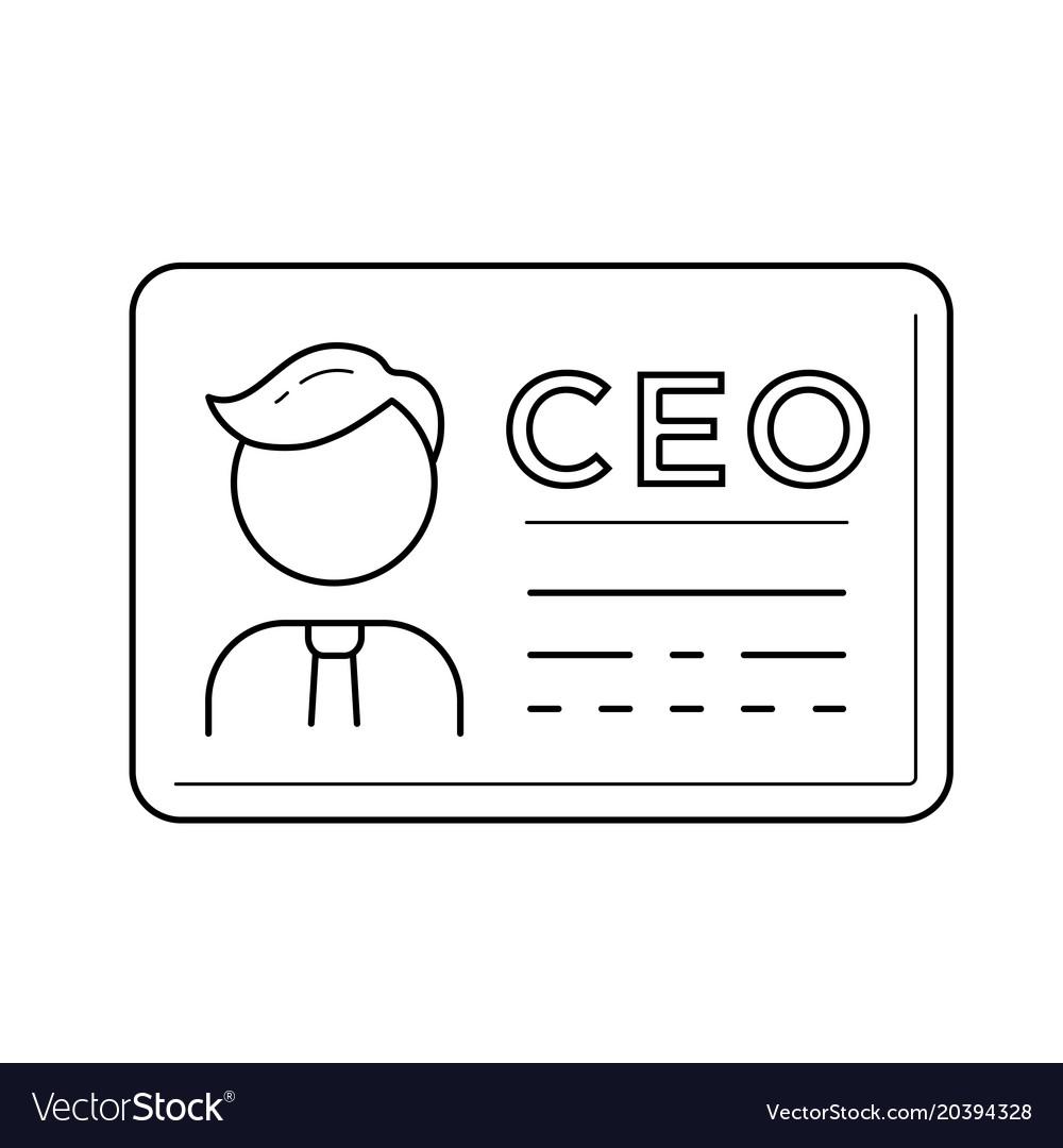 Ceo business card line icon vector image on vectorstock ceo business card line icon vector image colourmoves