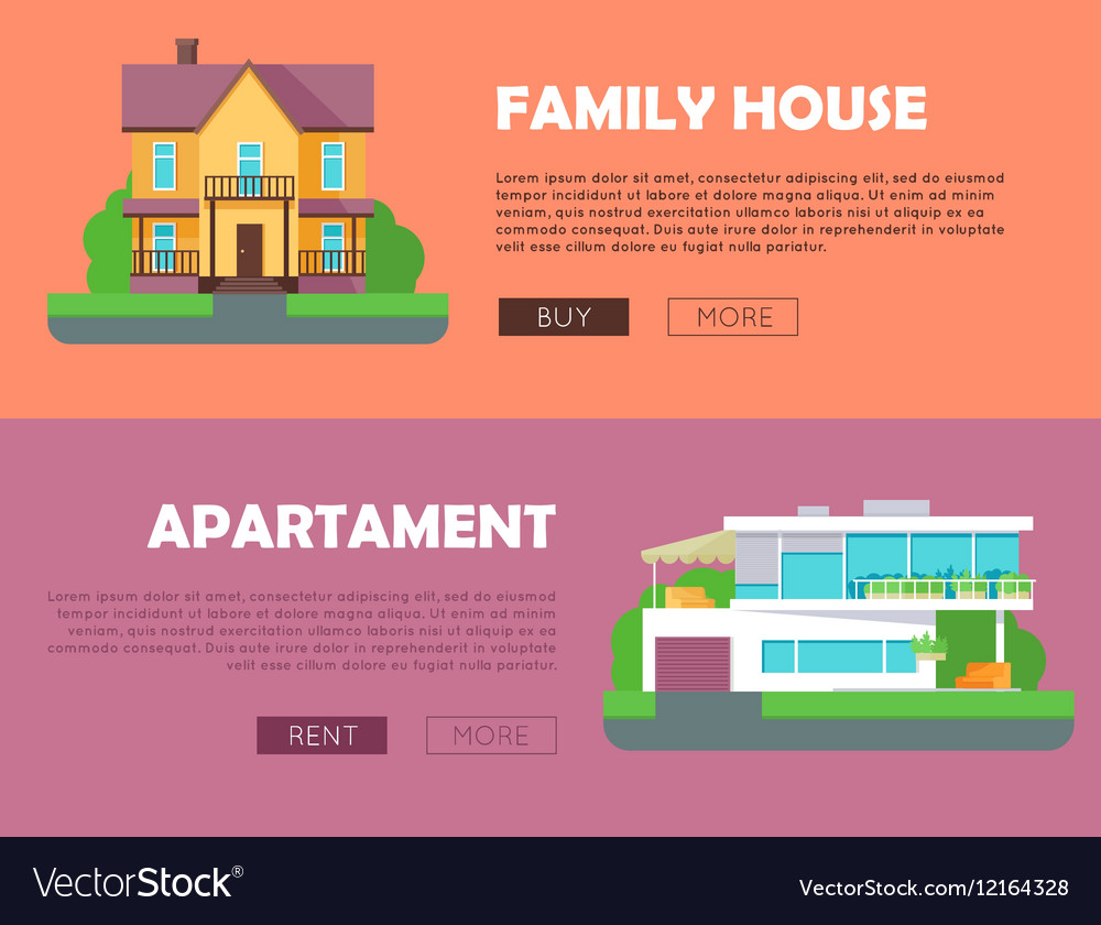 Family House Apartment Advertising Flyer Poster