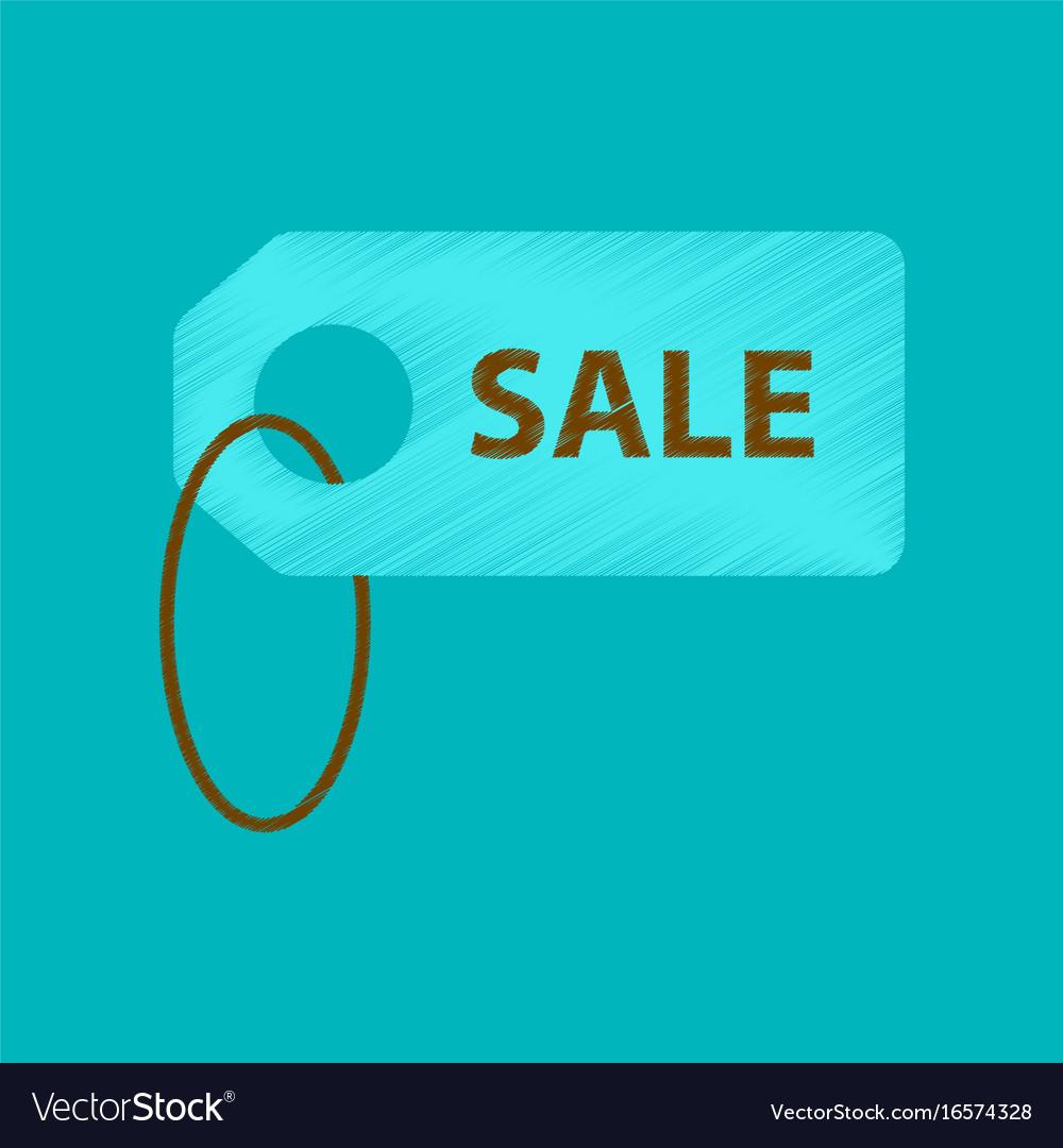 Flat shading style icon sale label