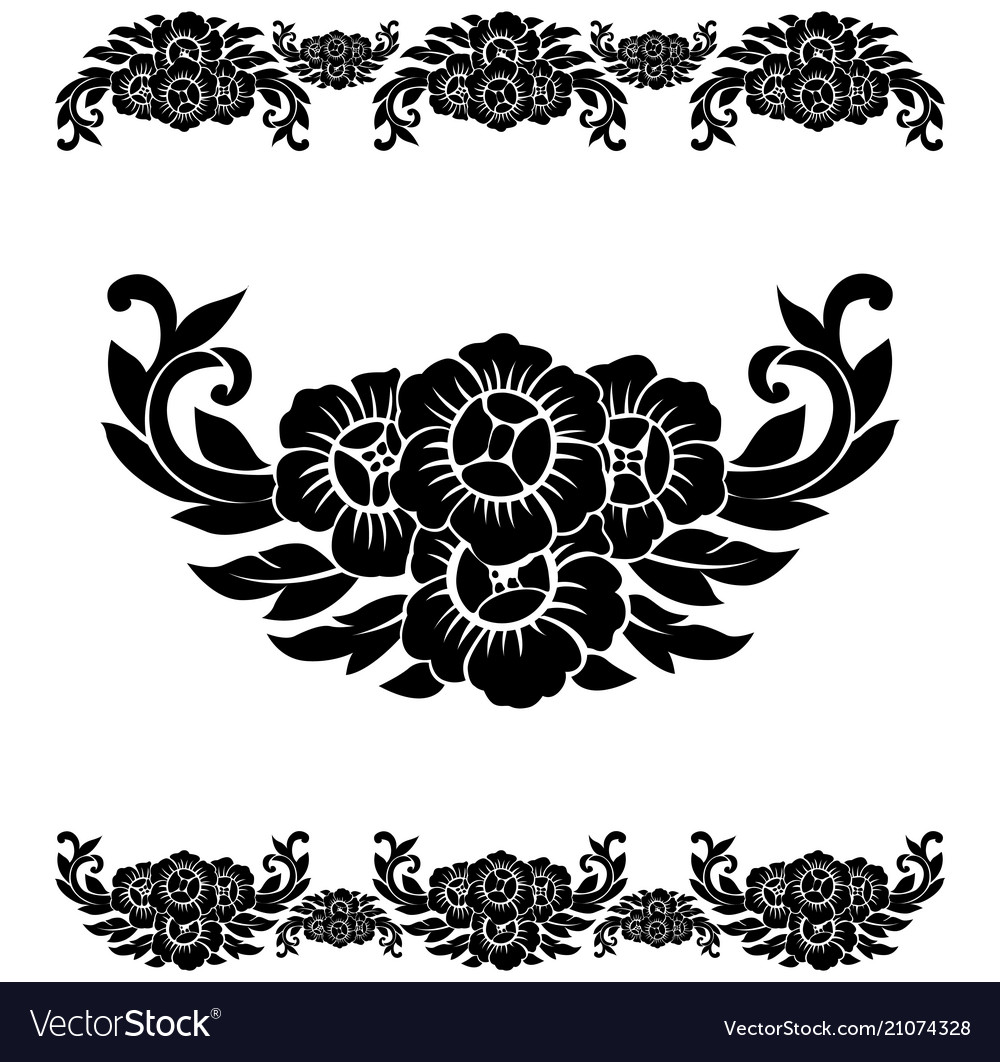 Flower pattern decoration