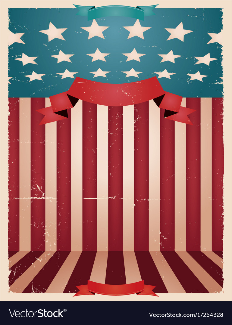 Fourth Of July American Background Royalty Free Vector