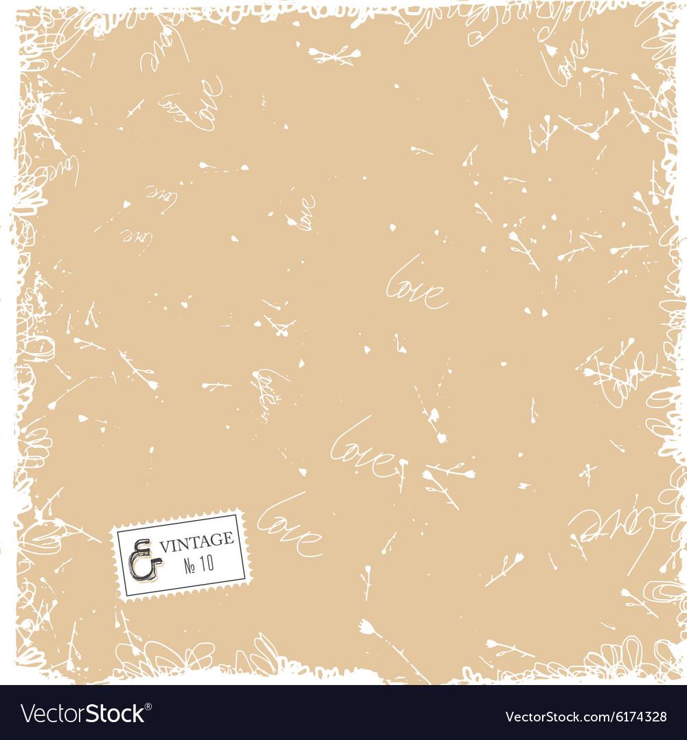 Grunge vintage texture vector image